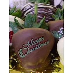 Merry Christmas Chocolate Covered Strawberries