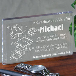 Graduation Wish Paperweight
