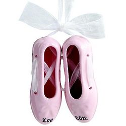 Personalized Ballet Slippers Ornament