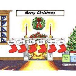 Christmas Stockings Personalized Cartoon
