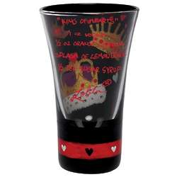 King of Hearts Painted Shot Glass