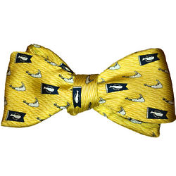 Yellow Burgee and Island Design Bow Tie