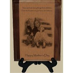 Mother's Day Solid Pyrograph