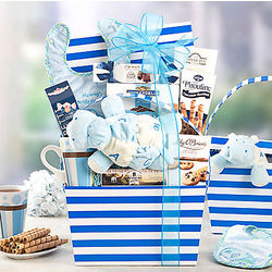 Happy Baby Boy Gift Basket