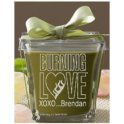 Personalized Elvis Burning Love Papaya and Bamboo Spa Candle