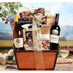 Acacia Chardonnay and Stonegate Napa Cabernet Gift Basket