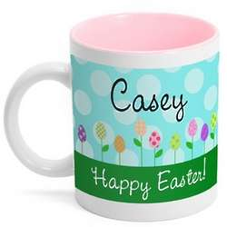 Personalized Easter Garden Coffee Mug
