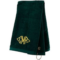 Hunter Green Personalized Deluxe Sports Towel