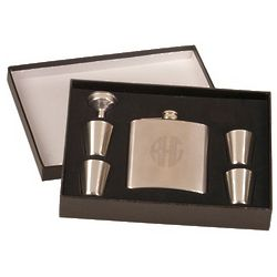 Fancy Flask and 4 Shot Glasses
