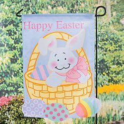Happy Easter Bunny Design Mini Yard Flag