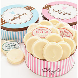 Sweet New Baby Girl Gourmet Cookie Tin