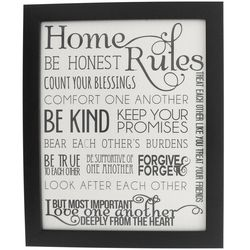 Biblical Home Rules Contemporary Print
