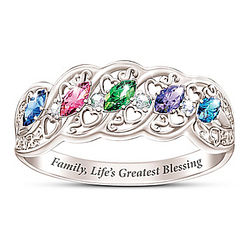 The Gift of Family Women's Birthstone Ring