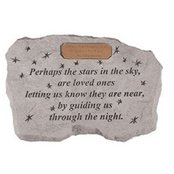 Perhaps The Stars Personalized Memorial Stone