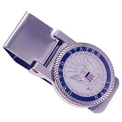 Personalized US Navy Hinged MoneyClip