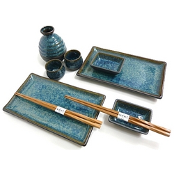 Blue Rain Sushi and Sake Set