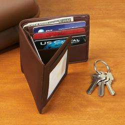 Cocoa Leather Bi-Fold Wallet