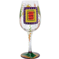 Happy Anniversary Hand-Painted Wine Glass