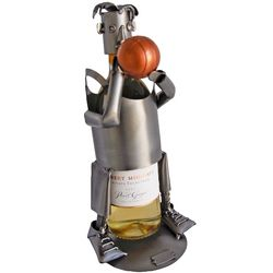 Basketball Player Recycled Metal Wine Caddy