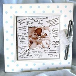 Blue Dot Framed Wishes Picture Frame