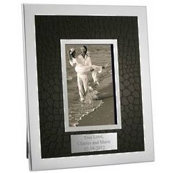Faux Croc Personalized Photo Frame