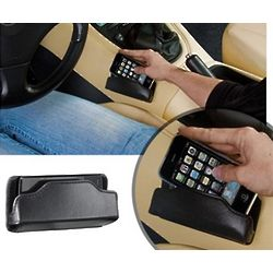 Mobivalet Leather Cell Phone Holder for Car