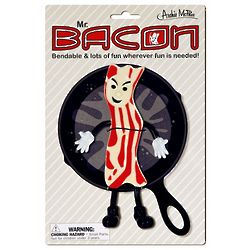 Mr. Bacon Posable Bendy Figure Toy