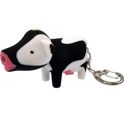Cow LED Keychain with Sound