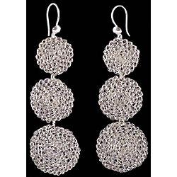 Lunar Trio Sterling Silver Dangle Earrings