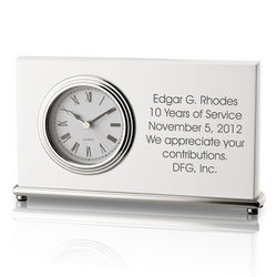 Personalized White Piano Finish Clock