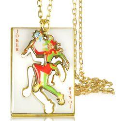 Joker Card Charm Necklace