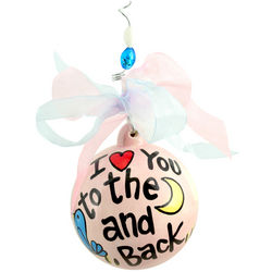 I Love You to the Moon and Back Ball Ornament