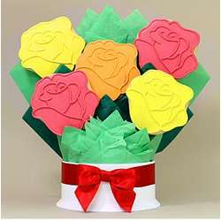Mixed Roses Cookie Bouquet