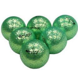Metallic Green Personalized Golf Balls