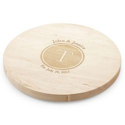 Lazy Susan Maple Cutting Board with Shadow Stamp