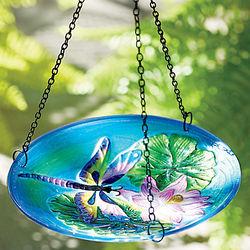 Hanging Glass Birdfeeder