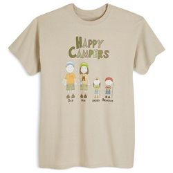 Kid's Personalized Happy Campers T-Shirt