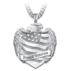 Men's Stainless Steel Proud Veteran Pendant