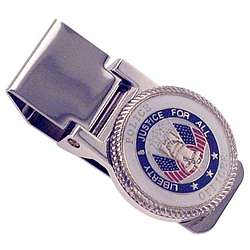 Personalized Policeman Hinged Money Clip