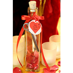 Romantic Message in a Bottle with Key to My Heart