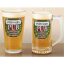 Personalized Pub Glasses