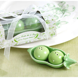 Two Peas in a Pod Ceramic Salt & Pepper Shakers
