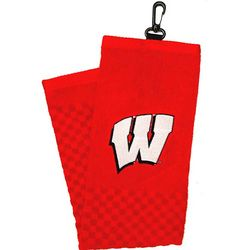 Wisconsin W Embroidered Golf Towel