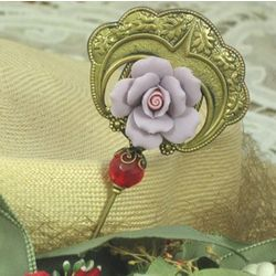 Purple Rose Hatpin