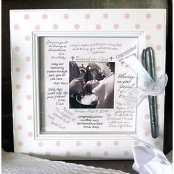 Pink Dot Framed Wishes Picture Frame