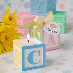 Baby Block Scented Candle Favors