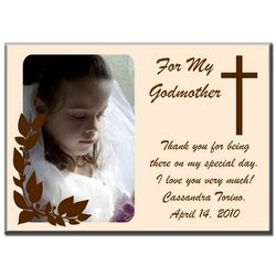 Personalized Thank You Cross Photo Panel