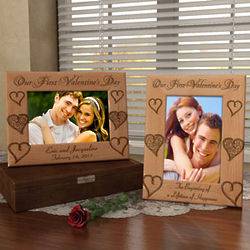 Personalized Our First Valentine's Day Wooden Picture Frame