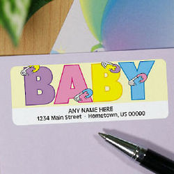 New Baby Address Labels
