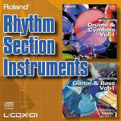 Rhythm Section Instruments Sound Collection CD